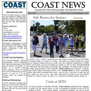 COAST Fall 2103 Newsletter