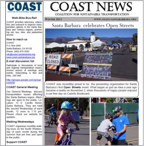 COAST Winter 2103 Newsletter
