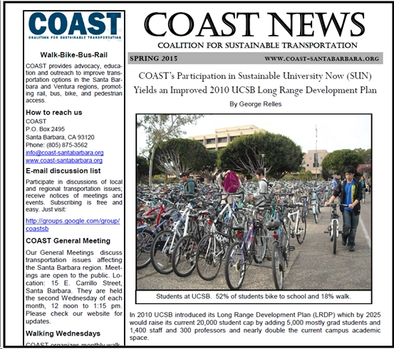 COAST Spring 2105 Newsletter