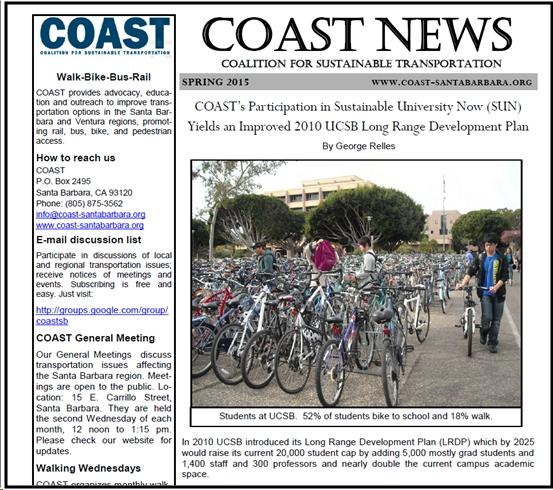 COAST Spring 2105 Newsletter