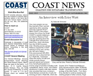 COAST Fall 2105 Newsletter