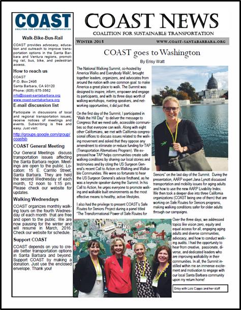 COAST Winter 2105 Newsletter