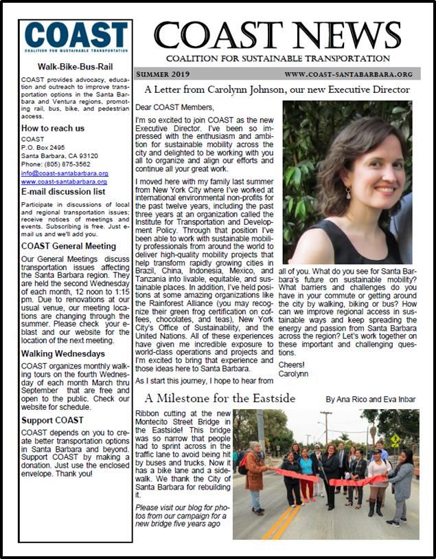 COAST News Summer, 2019